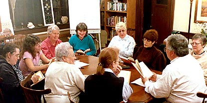 Photo of The Book Study Group in session